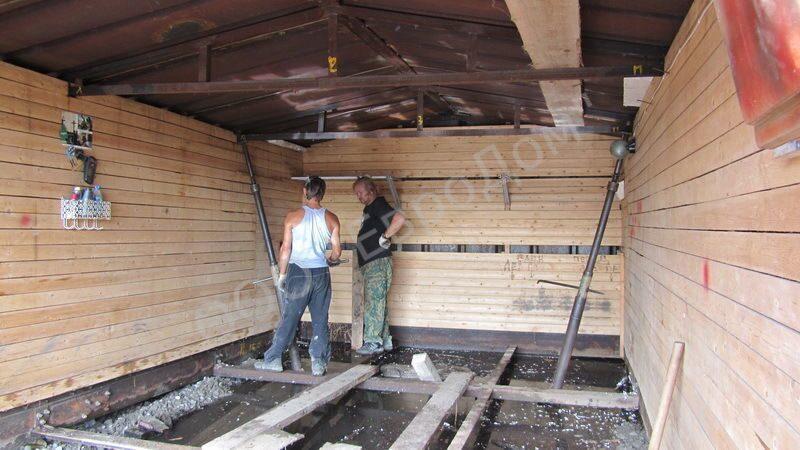 Как поднять деревянный гараж своими руками 95